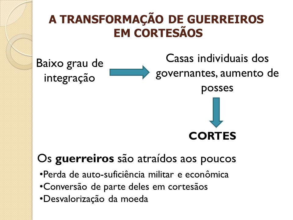 A TRANSFORMAÇÃO DE GUERREIROS EM CORTESÃOS