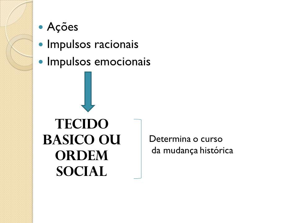 TECIDO BASICO OU ORDEM SOCIAL