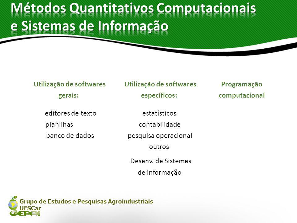 Métodos Quantitativos Computacionais e Sistemas de Informação