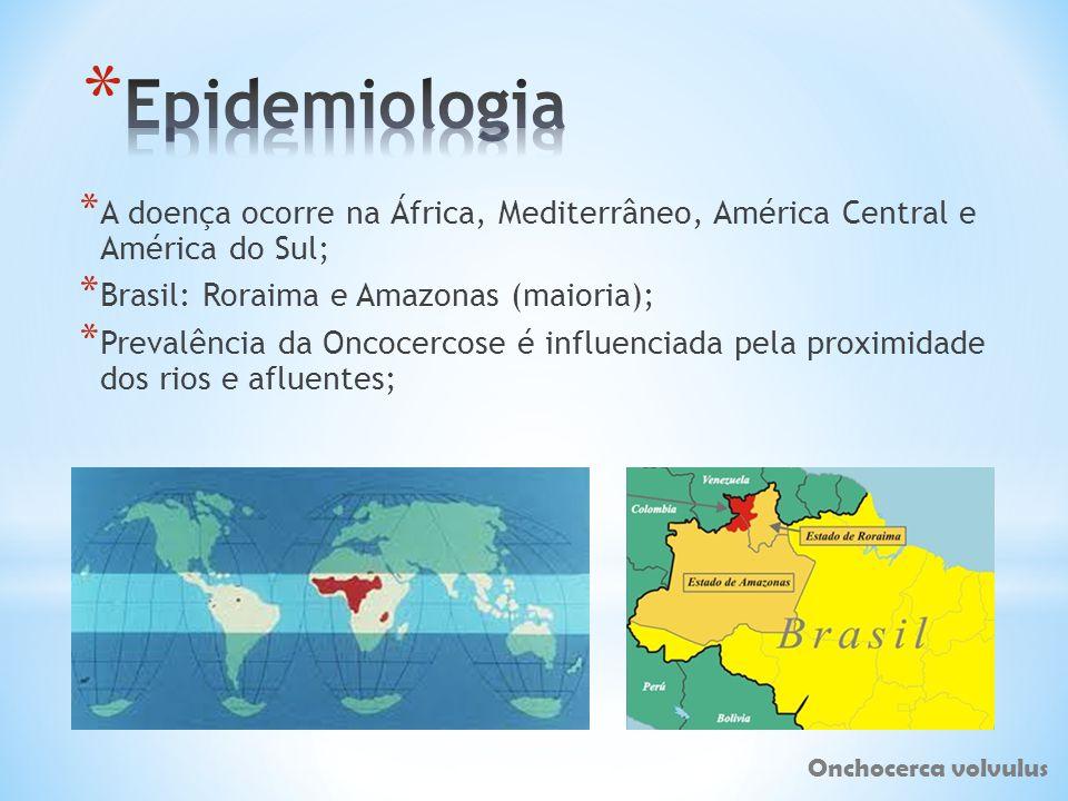Epidemiologia A doença ocorre na África, Mediterrâneo, América Central e América do Sul; Brasil: Roraima e Amazonas (maioria);