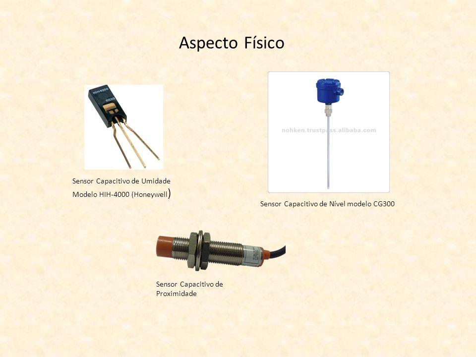 Aspecto Físico Sensor Capacitivo de Umidade Modelo HIH-4000 (Honeywell) Sensor Capacitivo de Nível modelo CG300.