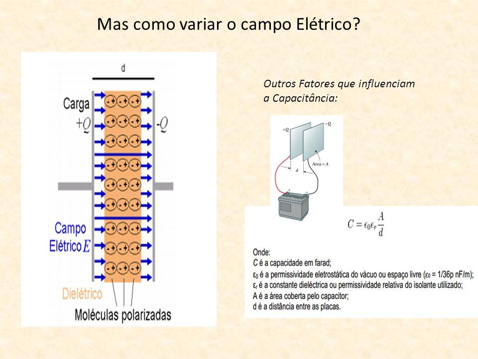 Mas como variar o campo Elétrico