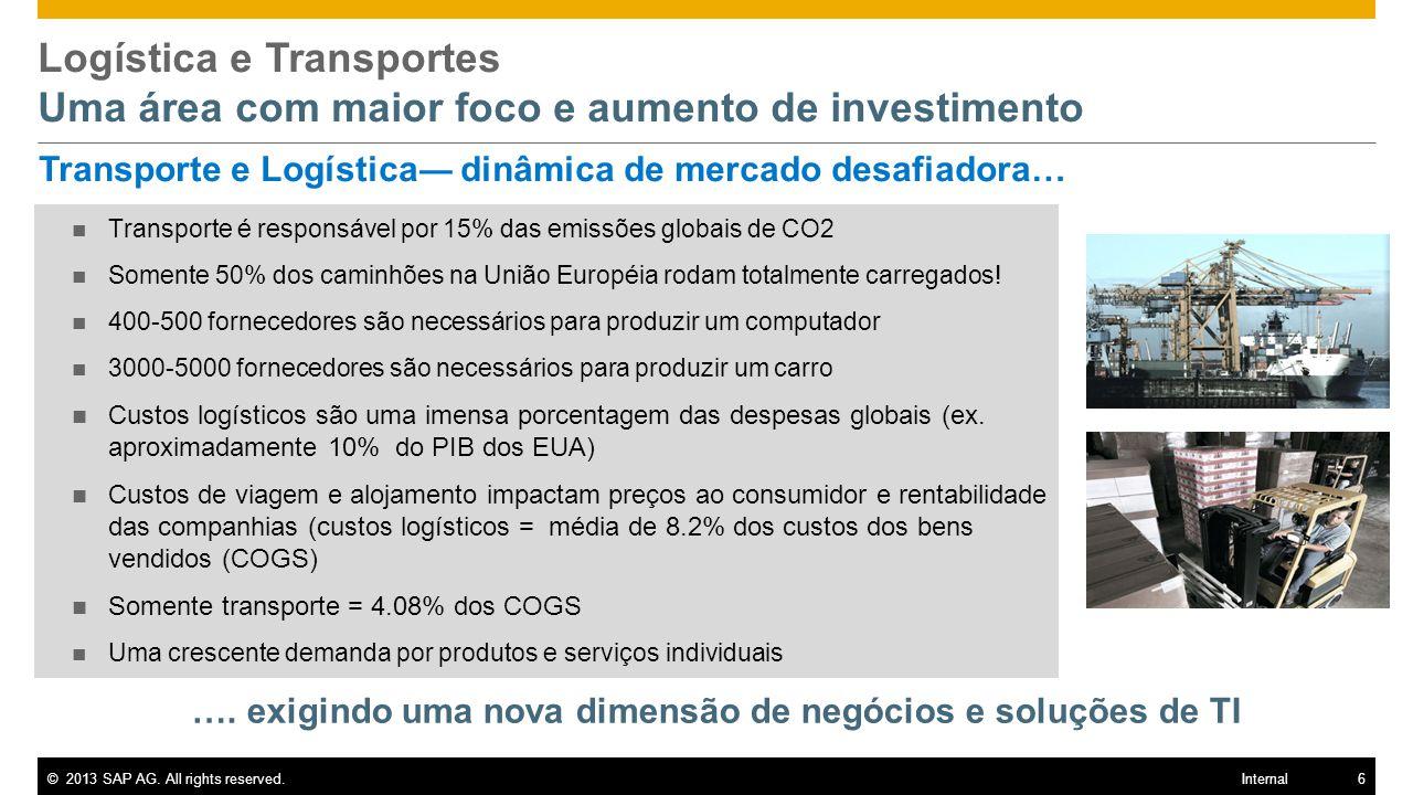 Logística e Transportes Uma área com maior foco e aumento de investimento
