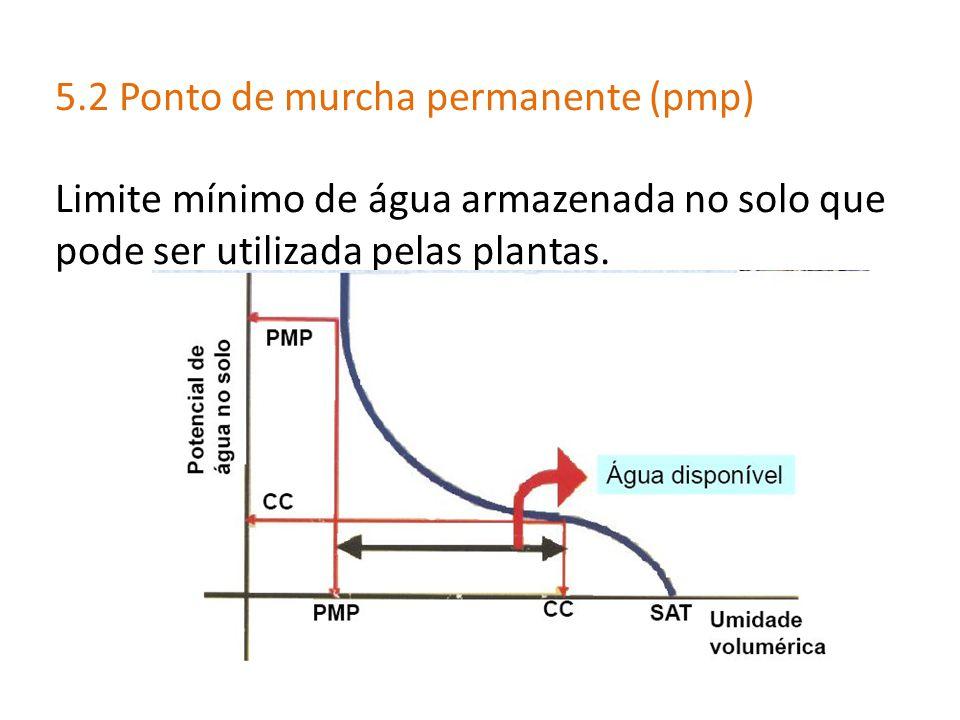 5.2 Ponto de murcha permanente (pmp)