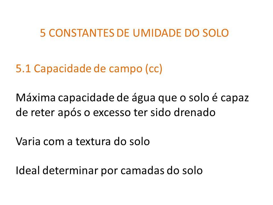 5 CONSTANTES DE UMIDADE DO SOLO