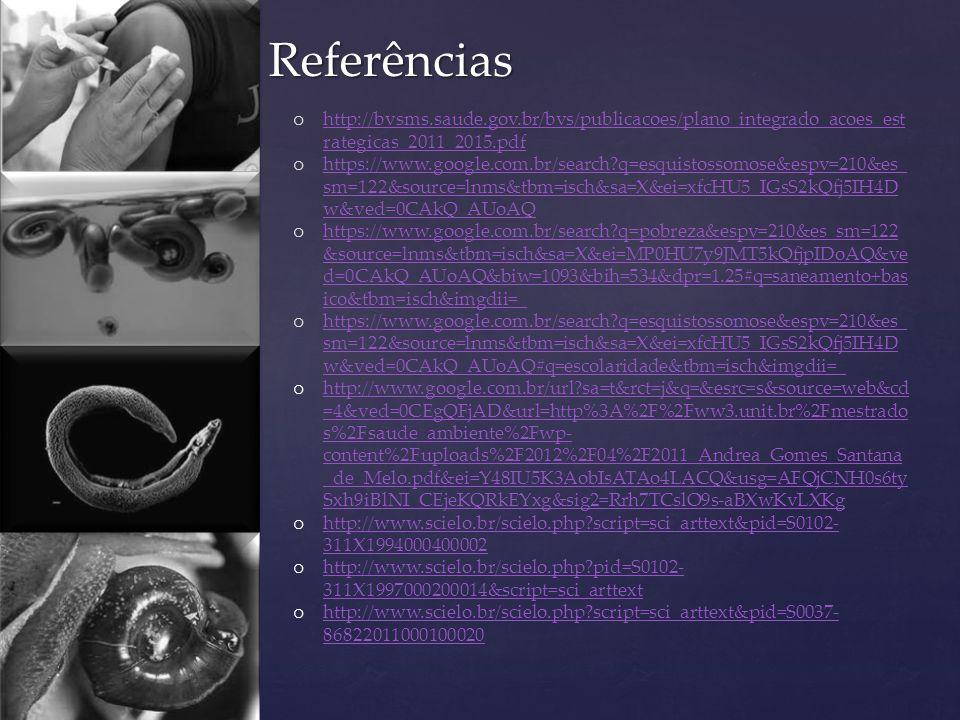 Referências http://bvsms.saude.gov.br/bvs/publicacoes/plano_integrado_acoes_estrategicas_2011_2015.pdf.