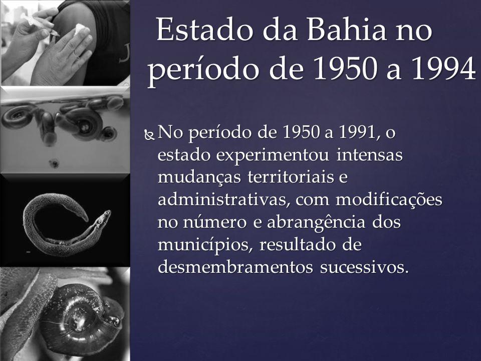 Estado da Bahia no período de 1950 a 1994