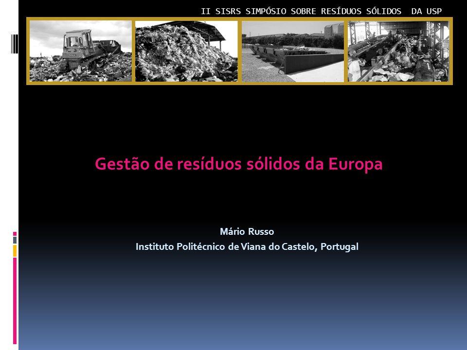 Gestão de resíduos sólidos da Europa