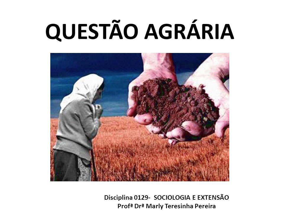 QUESTÃO AGRÁRIA Disciplina 0129- SOCIOLOGIA E EXTENSÃO