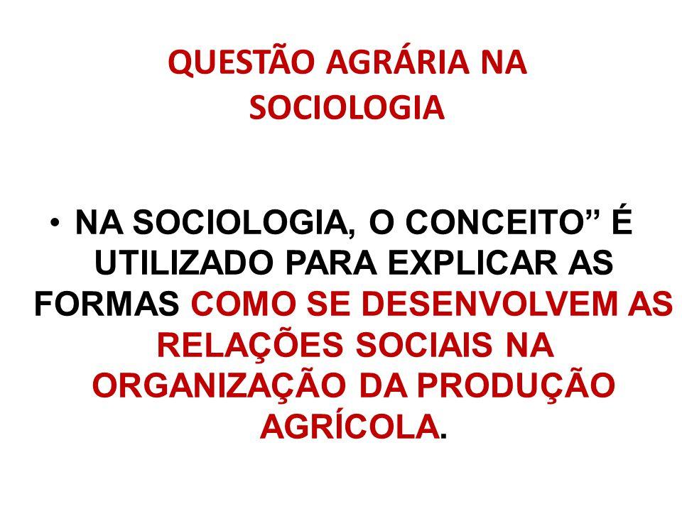 QUESTÃO AGRÁRIA NA SOCIOLOGIA