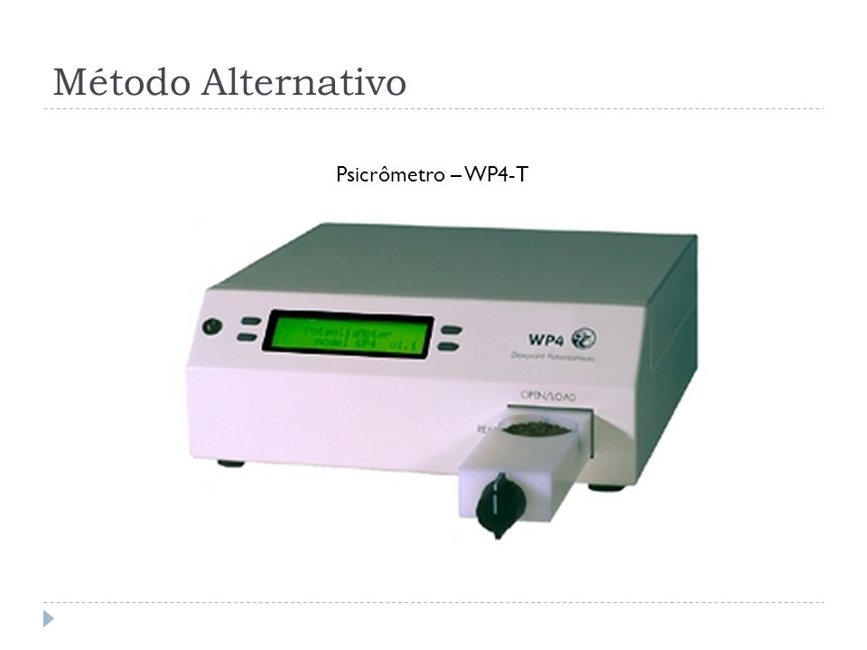 Método Alternativo Psicrômetro – WP4-T