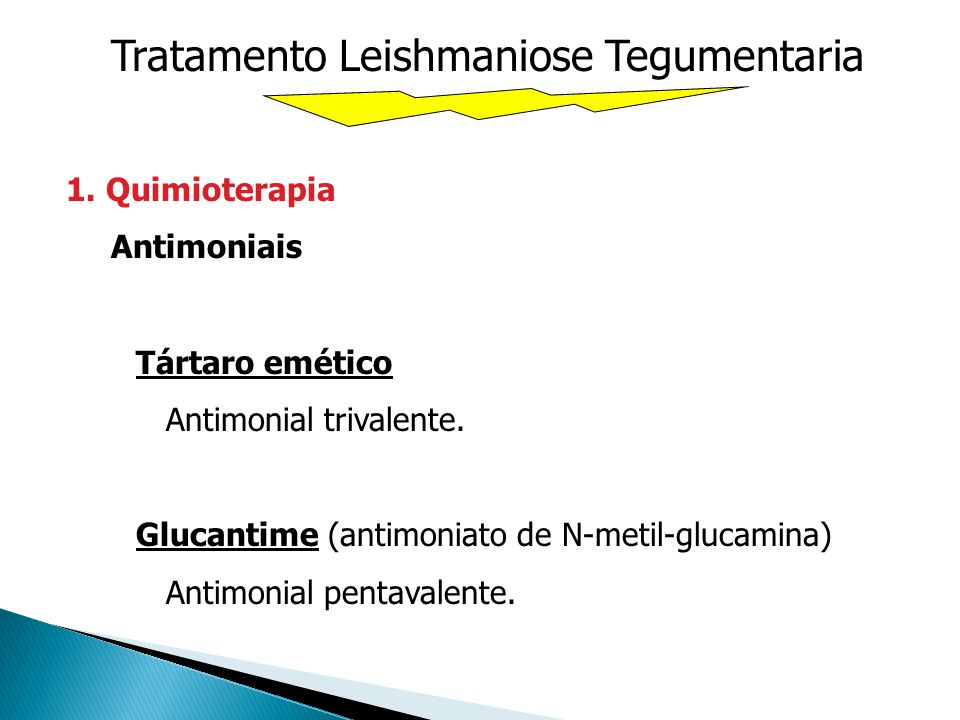 Tratamento Leishmaniose Tegumentaria