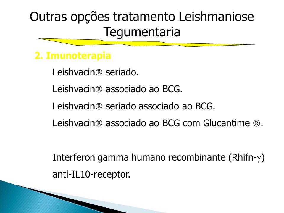 Outras opções tratamento Leishmaniose Tegumentaria