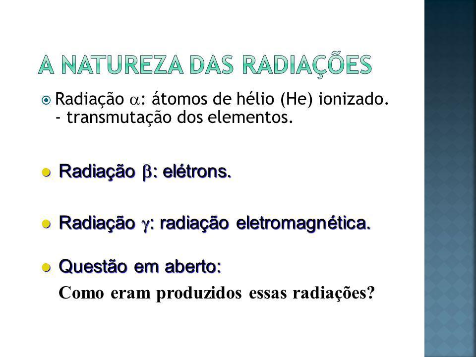 A natureza das radiações