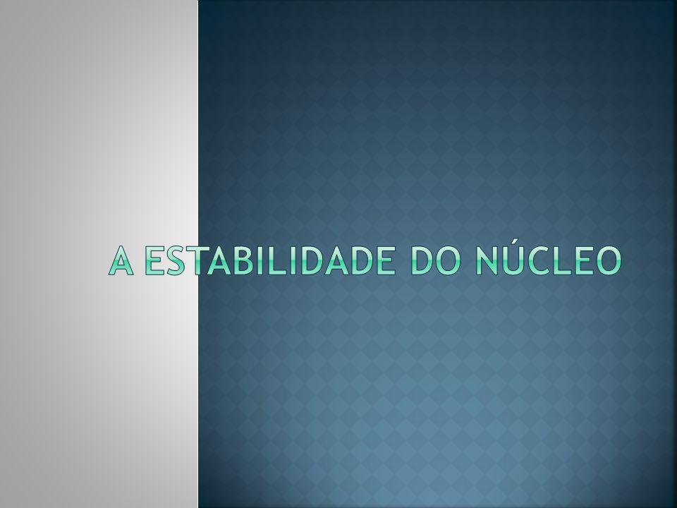 A estabilidade do núcleo