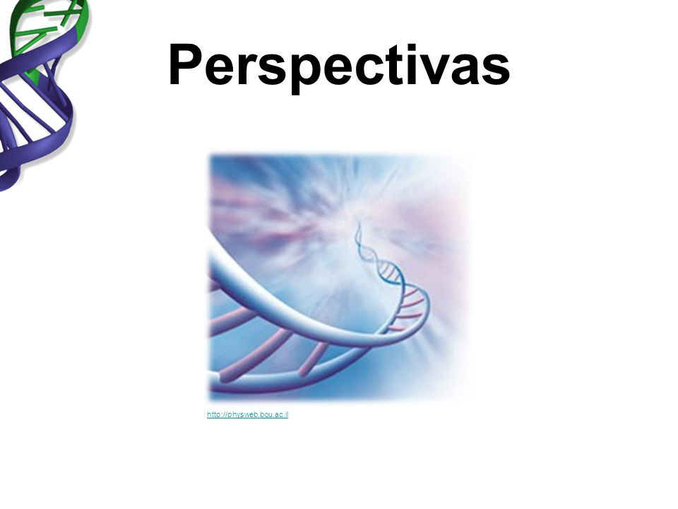 Perspectivas http://physweb.bgu.ac.il.