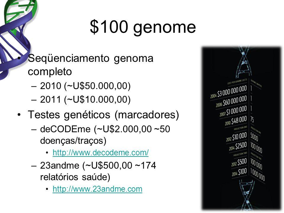 $100 genome Seqüenciamento genoma completo