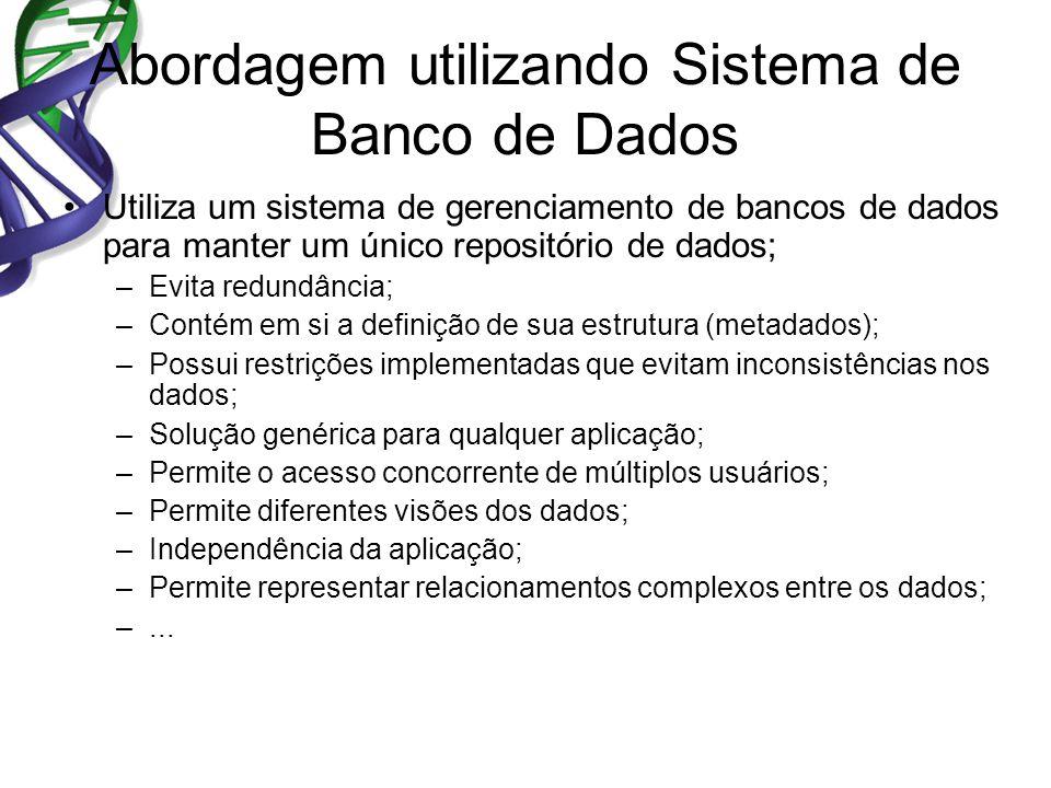 Abordagem utilizando Sistema de Banco de Dados