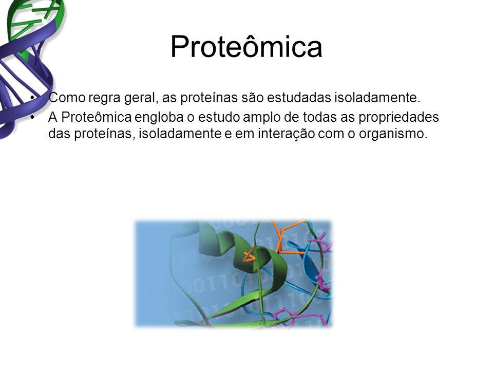 Proteômica Como regra geral, as proteínas são estudadas isoladamente.