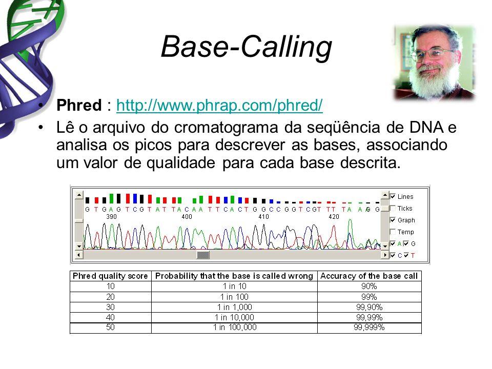 Base-Calling Phred : http://www.phrap.com/phred/