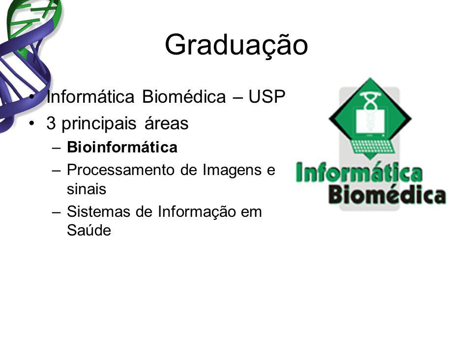 Graduação Informática Biomédica – USP 3 principais áreas
