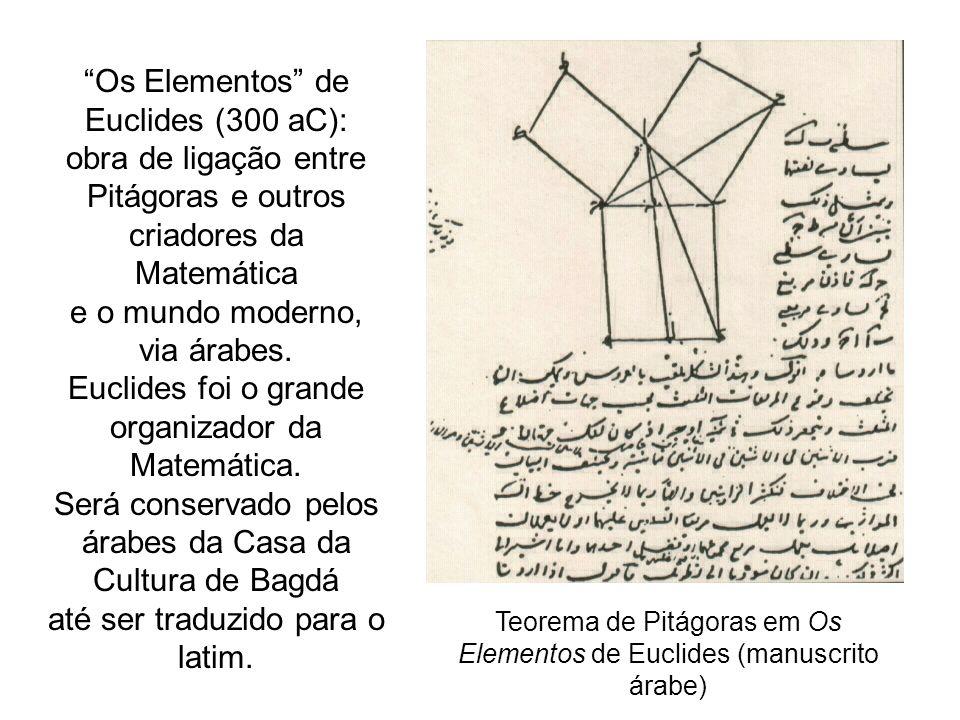 Os Elementos de Euclides (300 aC): obra de ligação entre