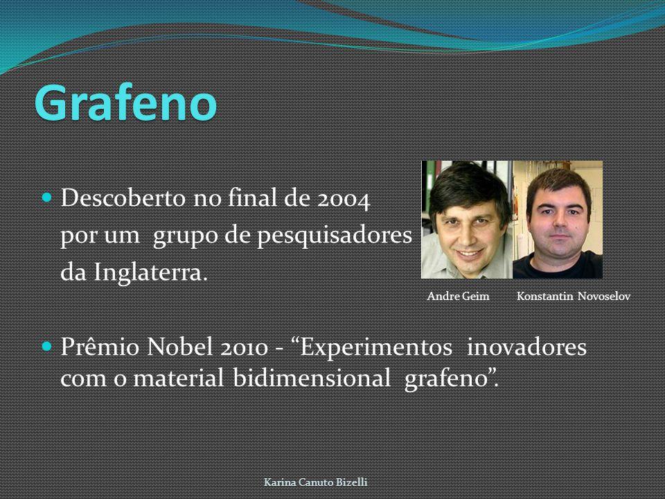 Grafeno Descoberto no final de 2004 por um grupo de pesquisadores