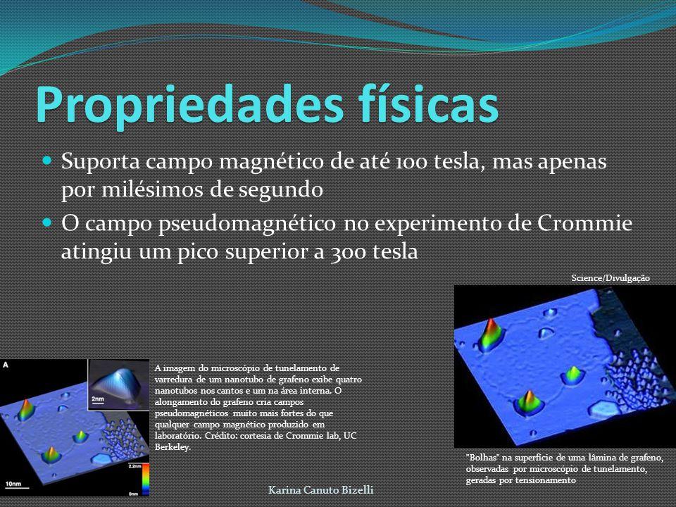 Propriedades físicas Suporta campo magnético de até 100 tesla, mas apenas por milésimos de segundo.
