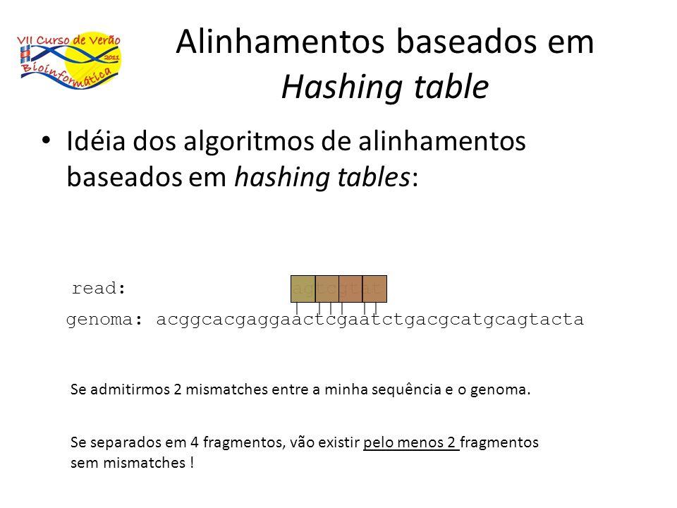 Alinhamentos baseados em Hashing table