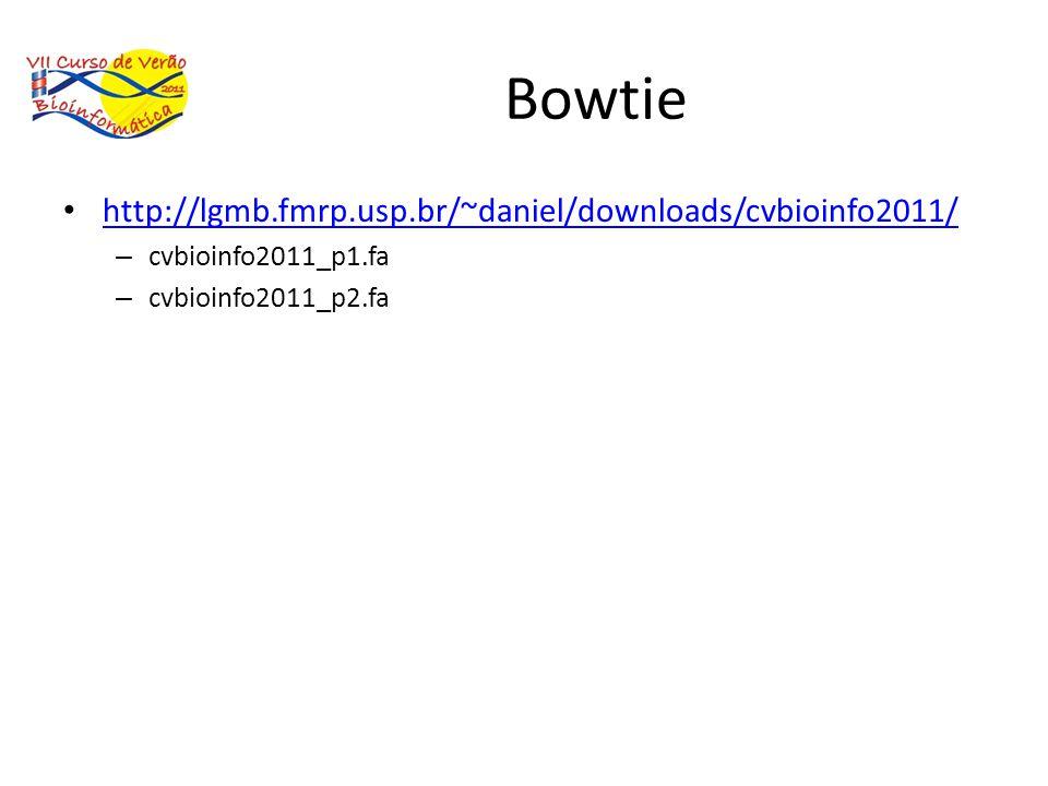 Bowtie http://lgmb.fmrp.usp.br/~daniel/downloads/cvbioinfo2011/