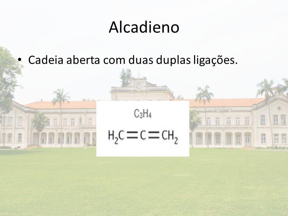 Alcadieno Cadeia aberta com duas duplas ligações.