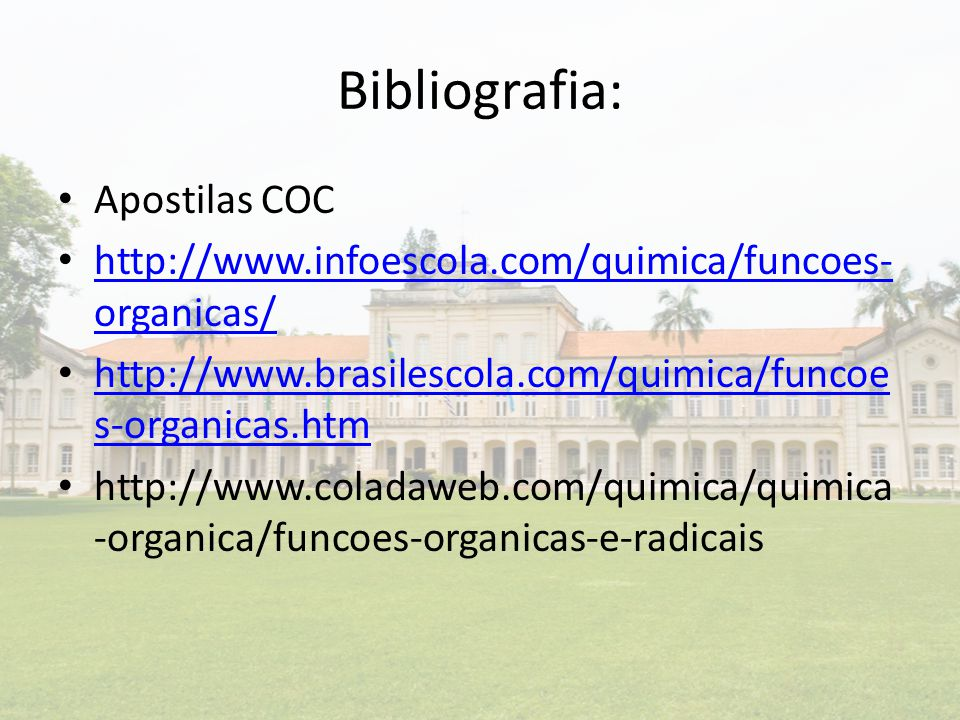 Bibliografia: Apostilas COC
