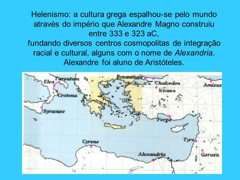 Alexandre foi aluno de Aristóteles.