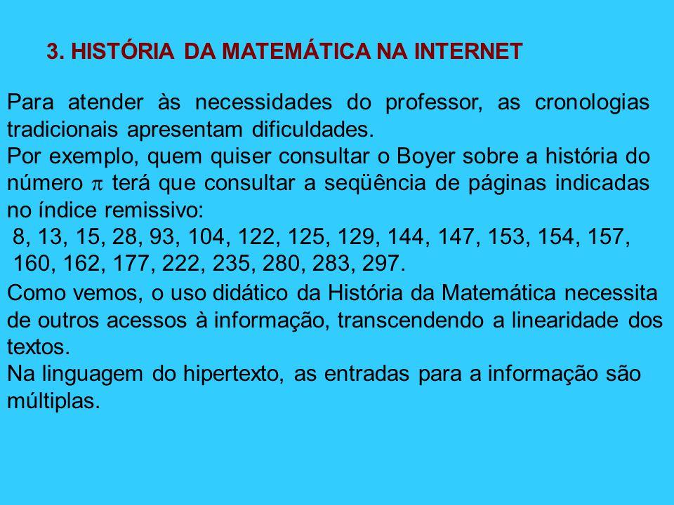 3. HISTÓRIA DA MATEMÁTICA NA INTERNET