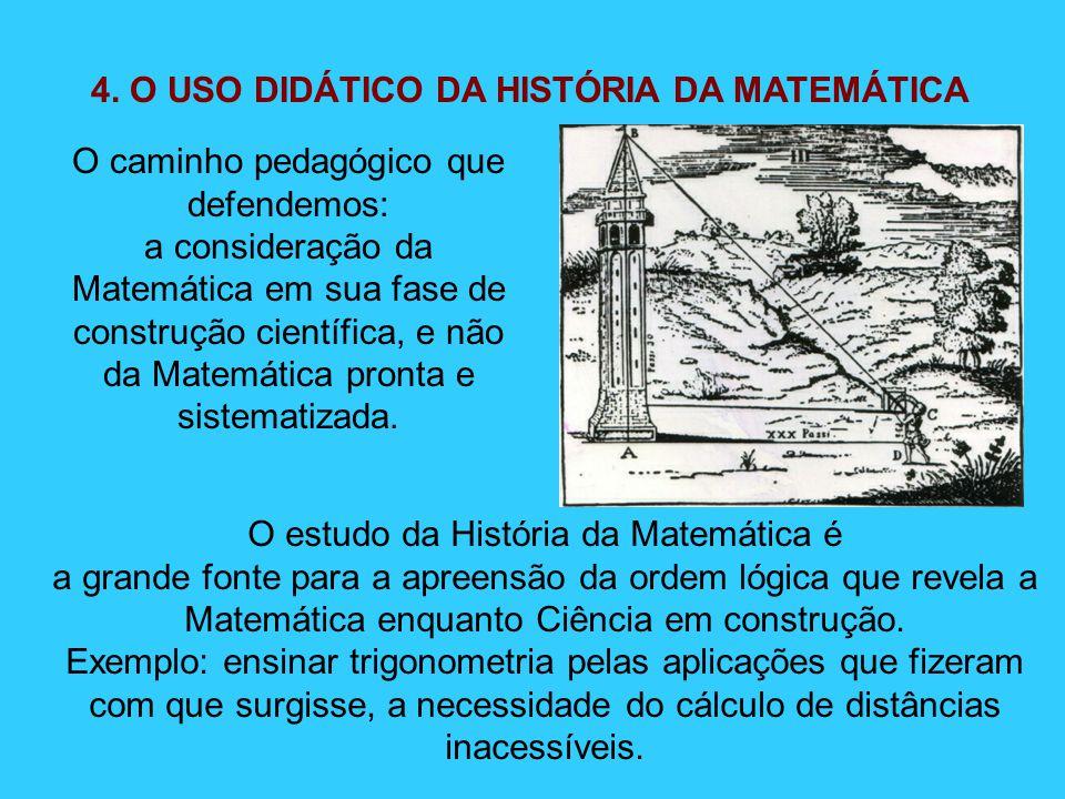 4. O USO DIDÁTICO DA HISTÓRIA DA MATEMÁTICA