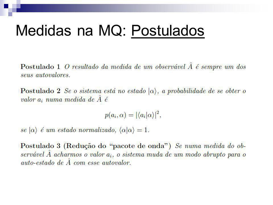 Medidas na MQ: Postulados