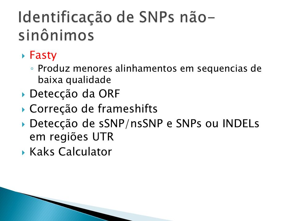 Identificação de SNPs não-sinônimos