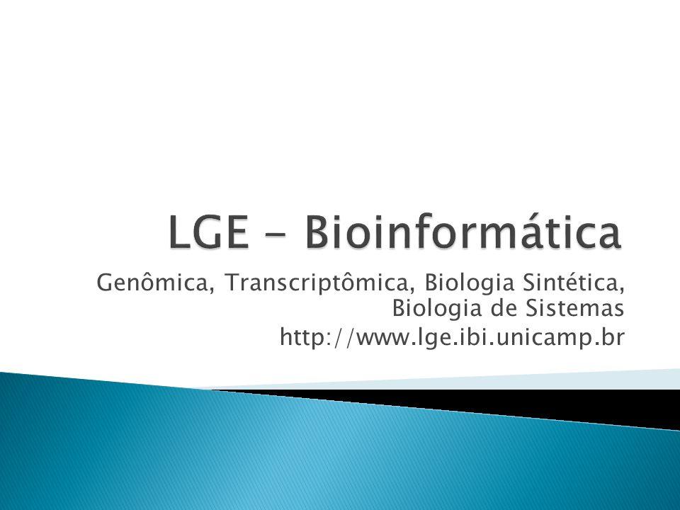 LGE - Bioinformática Genômica, Transcriptômica, Biologia Sintética, Biologia de Sistemas.