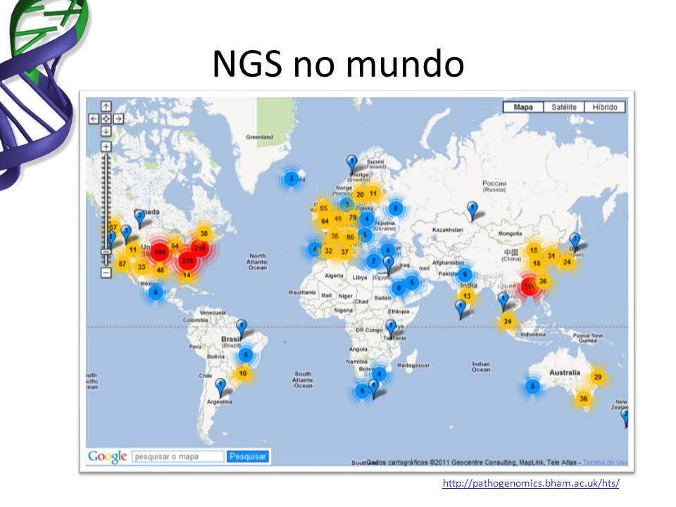 NGS no mundo http://pathogenomics.bham.ac.uk/hts/