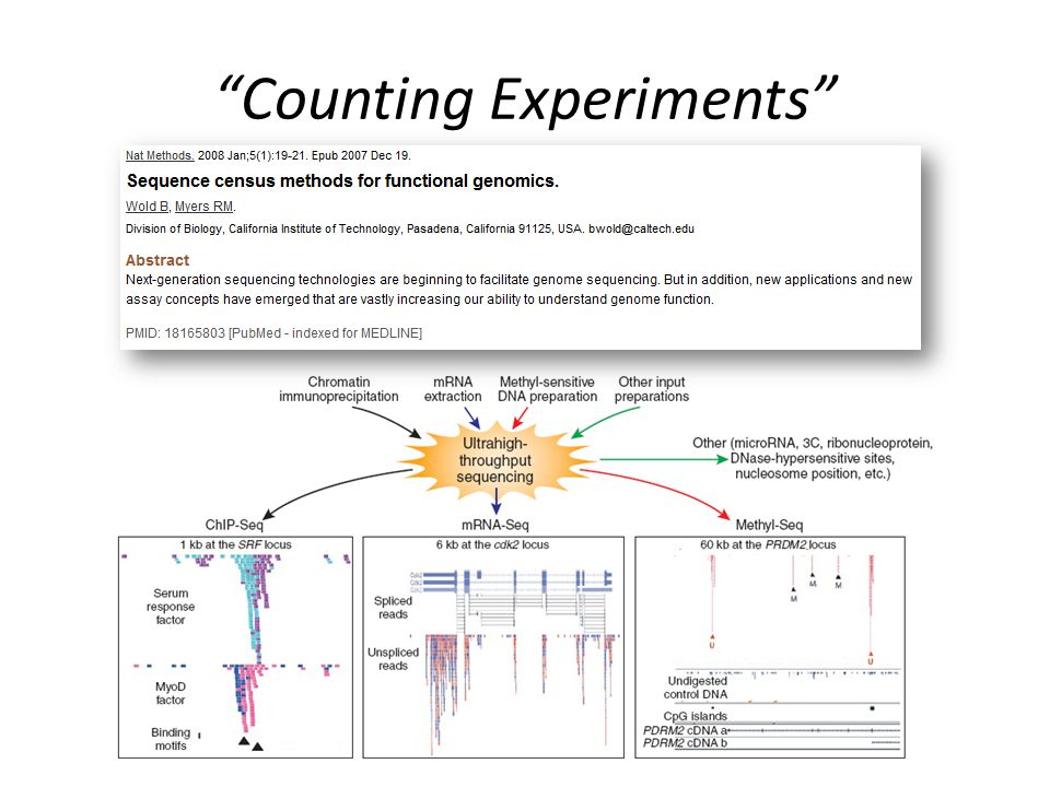 Counting Experiments