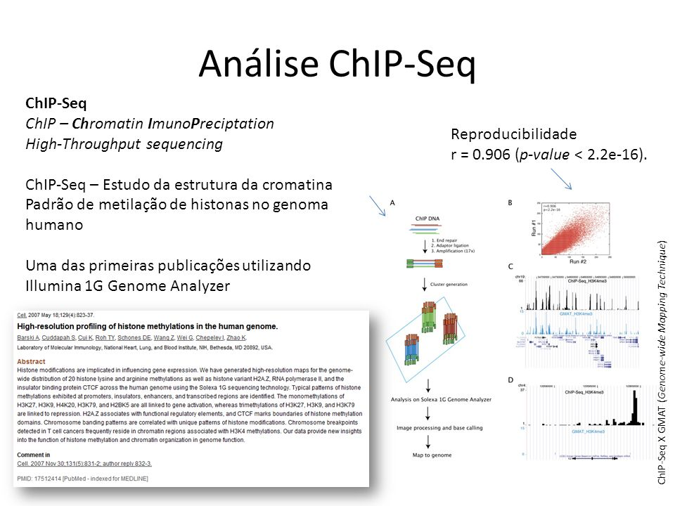 Análise ChIP-Seq ChIP-Seq ChIP – Chromatin ImunoPreciptation