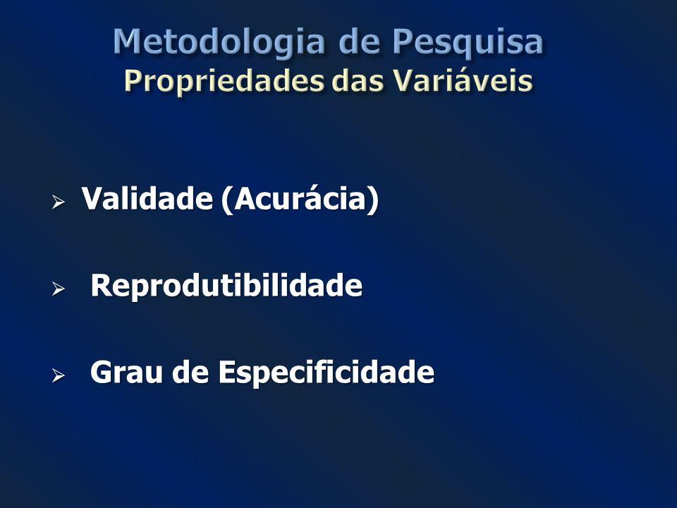 Metodologia de Pesquisa Propriedades das Variáveis