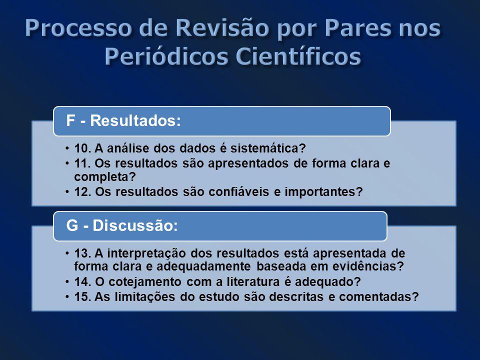 Processo de Revisão por Pares nos Periódicos Científicos