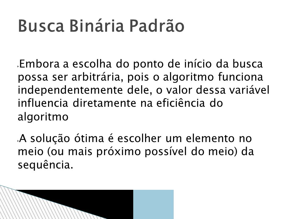 Busca Binária Padrão