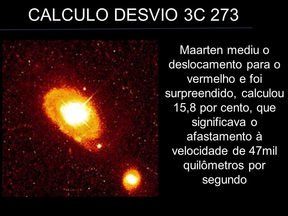CALCULO DESVIO 3C 273