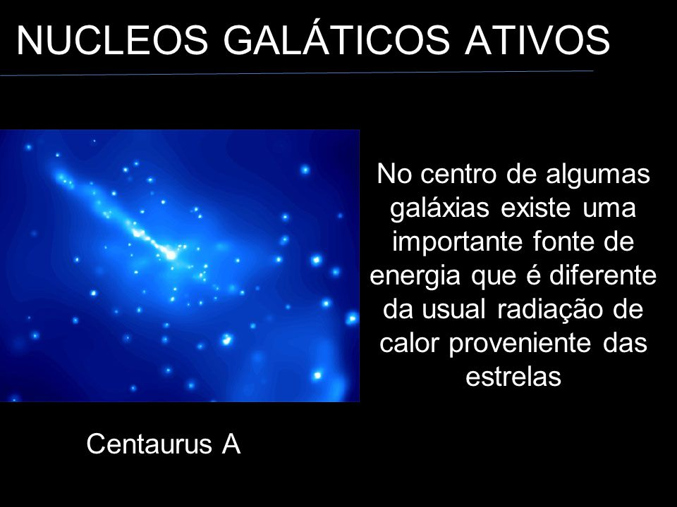 NUCLEOS GALÁTICOS ATIVOS