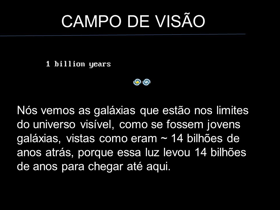 CAMPO DE VISÃO
