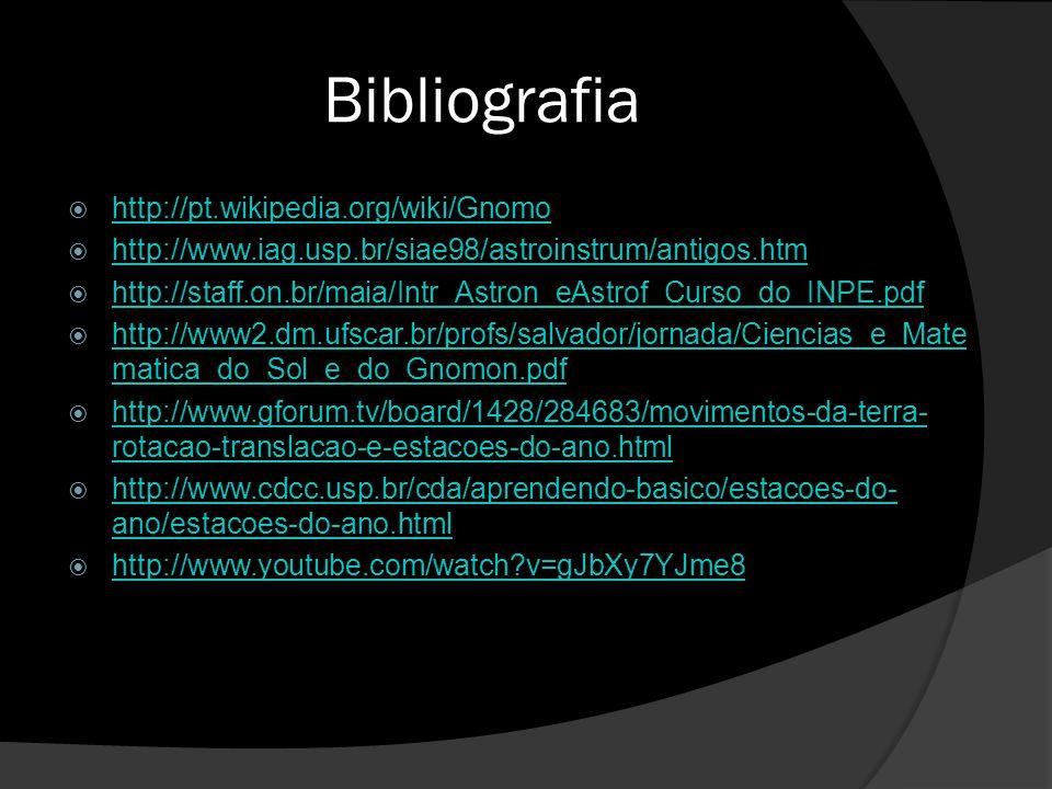 Bibliografia http://pt.wikipedia.org/wiki/Gnomo