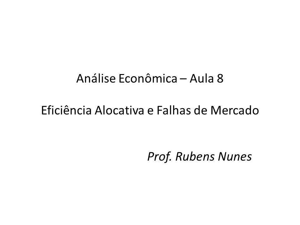 Análise Econômica – Aula 8 Eficiência Alocativa e Falhas de Mercado