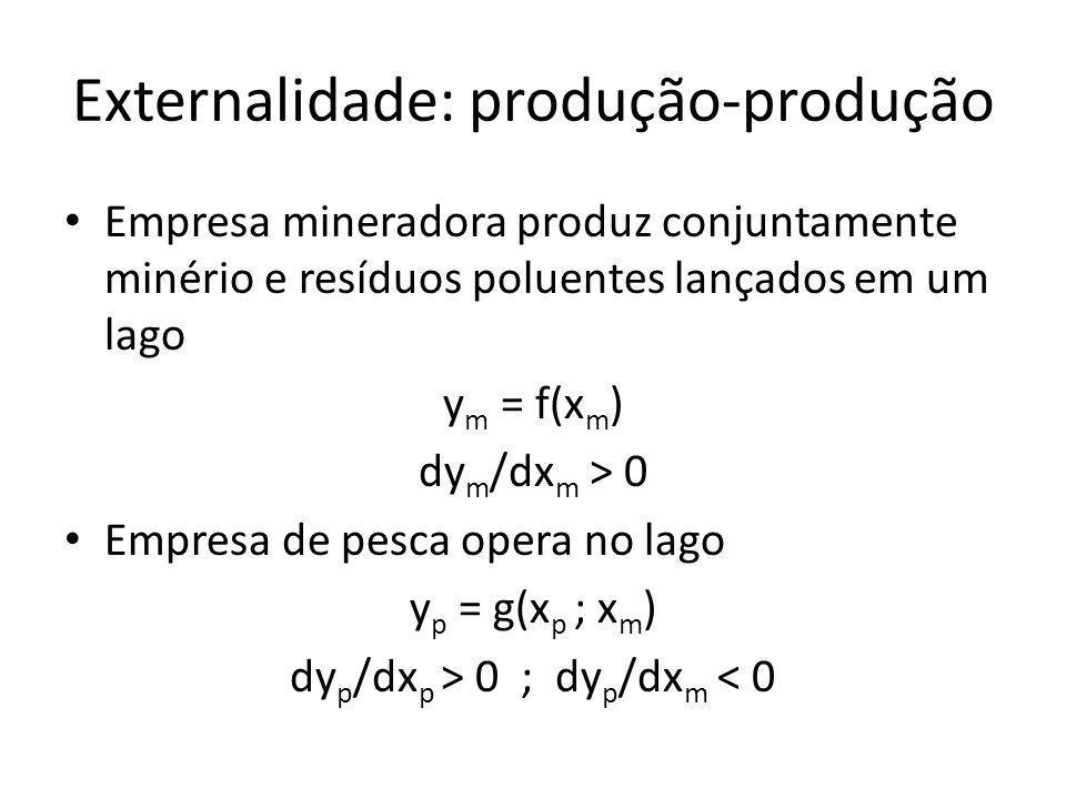 Externalidade: produção-produção